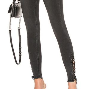 By the way gray lace up skinny jeans 29 NWT